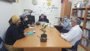 מפגש עם צוותי הניהול עמיתי אקדמיה